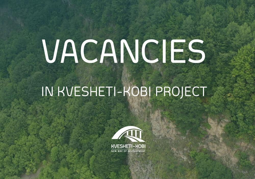 Vacancies in Kvesheti-Kobi Road Project